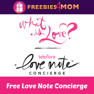 Free Valentine's Day Love Notes from Teleflora