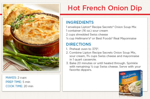 Hot French Onion Dip Recipe