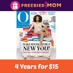 O, The Oprah Magazine 4 years for $15