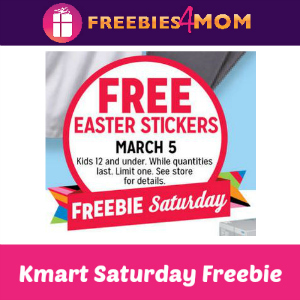 Free Easter Stickers at Kmart Saturday