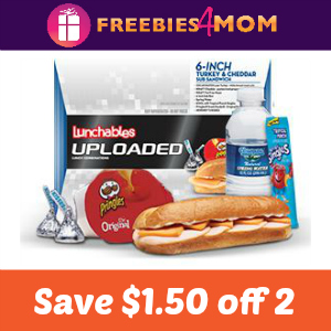 Coupon: Save $1.50 off 2 Lunchables Uploaded