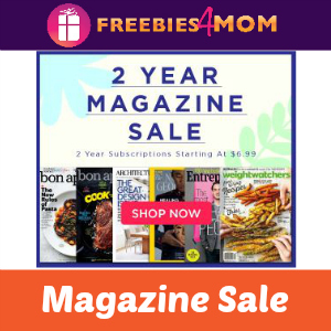 2 Year Magazine Sale