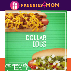 Sonic $1 Hot Dogs April 28