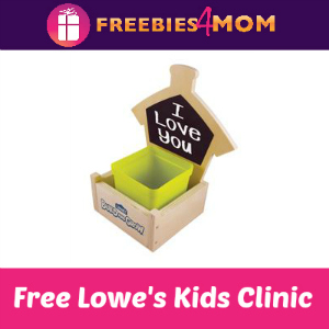 Free Chalkboard Planter Kids Clinic at Lowe's