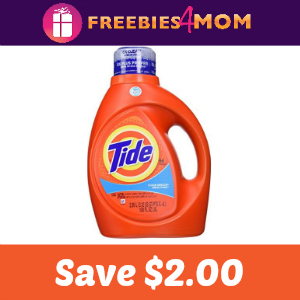 Coupon: Save $2.00 on one Tide 37 oz+
