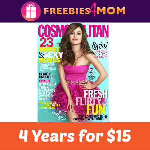 Magazine Deal: Cosmopolitan 4 Years for $15