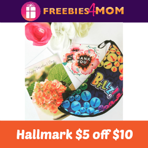 Coupon Hallmark $5 off $10
