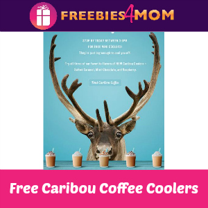 Free Caribou Coffee Coolers 3-5 pm May 5