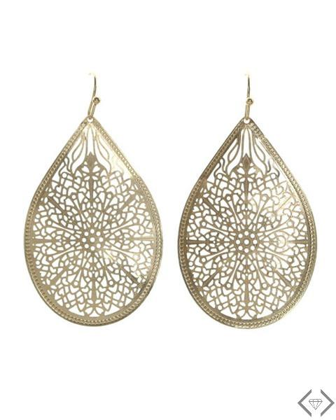 $7.95 Filigree Teardrop Earrings