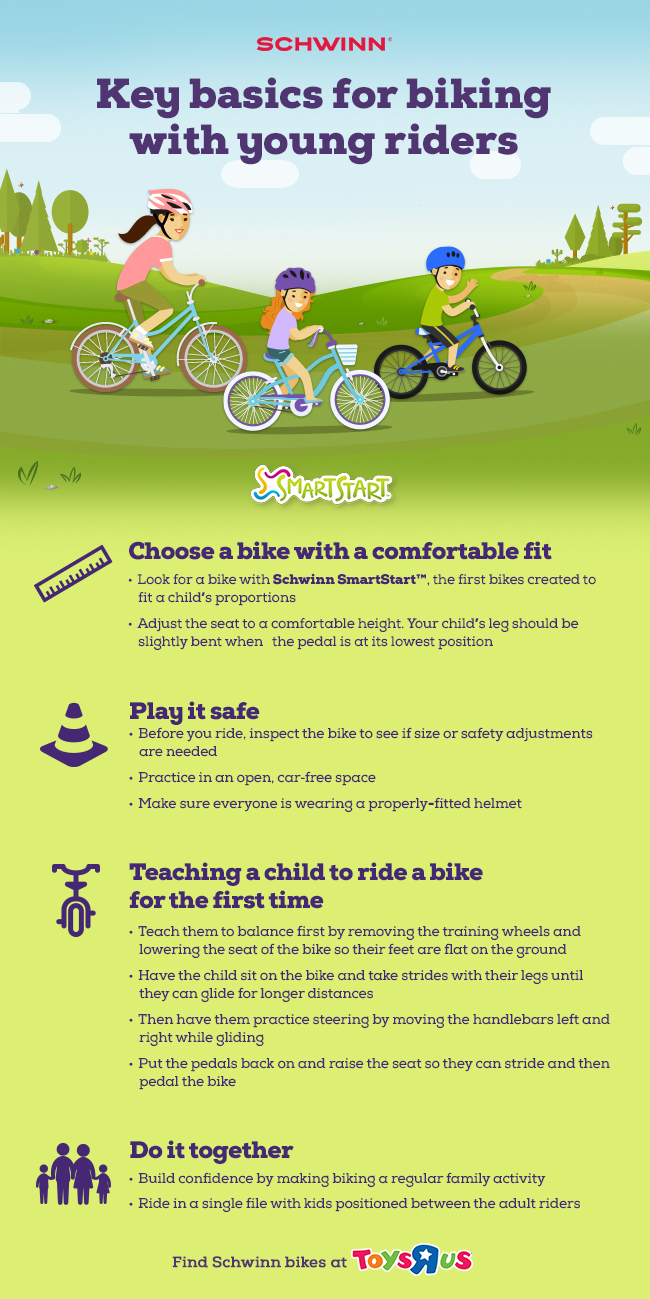 "Key basics for biking with young riders from Schwinn SmartStart at Toys""R""Us"