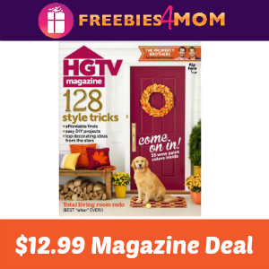 Magazine Deal: HGTV $12.99 (thru Jan. 11)