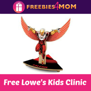 Free Marvel Falcon Kids Clinic at Lowe's July 9