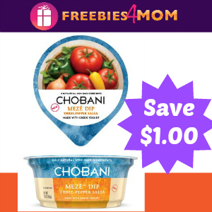 Coupon: $1.00 off Chobani Meze Dip