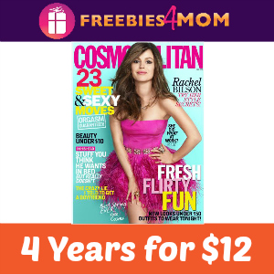 4 years of Cosmopolitan for $12