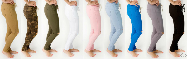 Drawstring Skinny Jeans $24.95