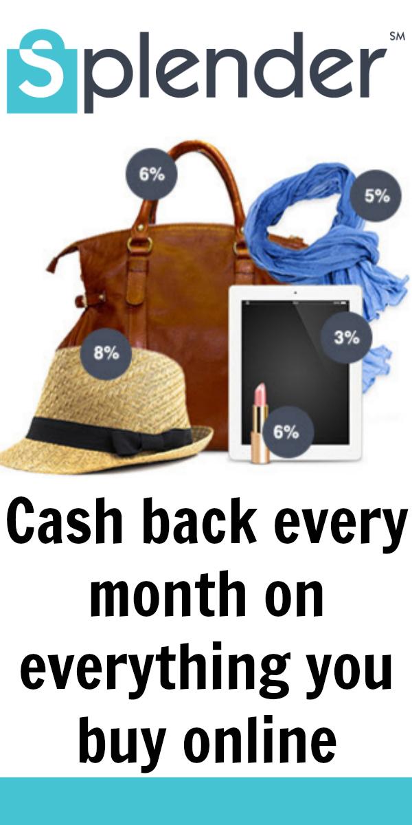 Shop Splender for Cash Back