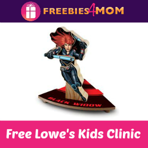 Free Black Widow Kids Clinic at Lowe's Aug. 13
