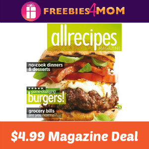 Magazine Deal: Allrecipes $4.99
