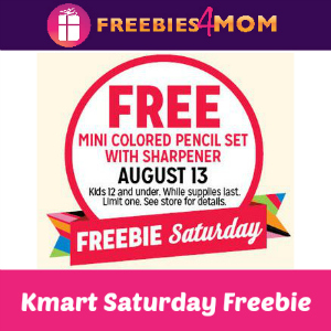 Free Mini Colored Pencil Set at Kmart Aug. 13