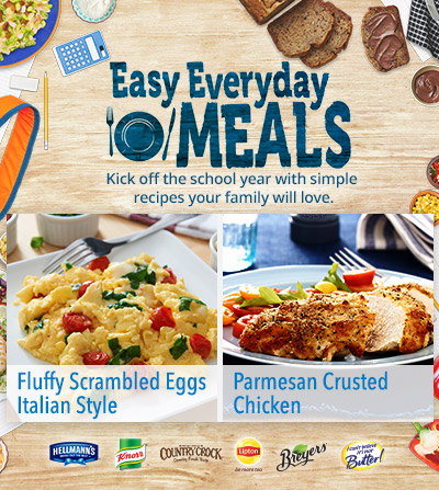 Easy Everyday Back-to-School Recipes #MealInspirations