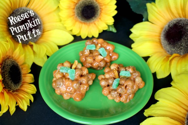 Reese's Pumpkin Puffs Treats for Halloween