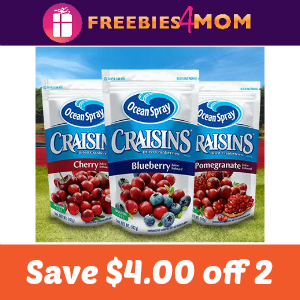 Coupon: $4.00 off 2 Craisins Dried Cranberries