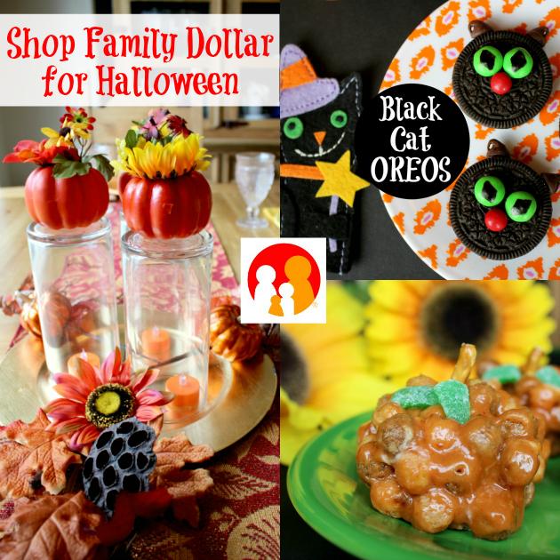 Shop Family Dollar for Halloween: Black Cat OREOS, Reese's Pumpkin Puffs & Fall Centerpiece