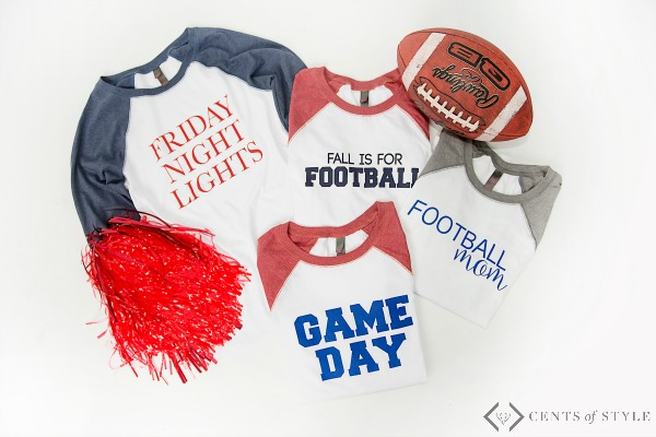 $17.95 Football Raglan Tees