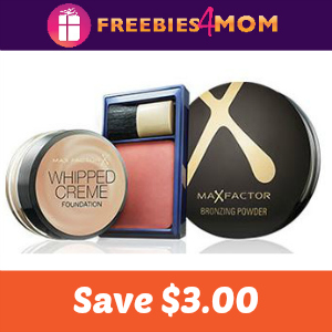 Coupon: $3.00 off one Max Factor Product