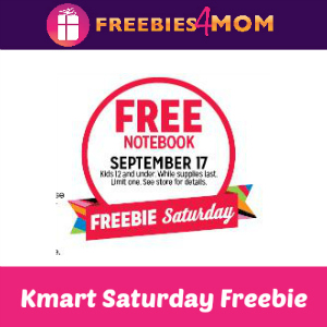 Free Notebook at Kmart Sept. 17