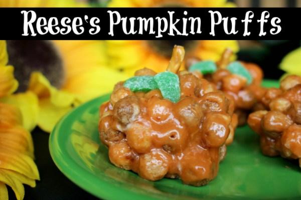 Reese's Pumpkin Puffs Treats Recipe