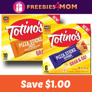 Coupon: $1.00 off One Totino's Pizza Sticks