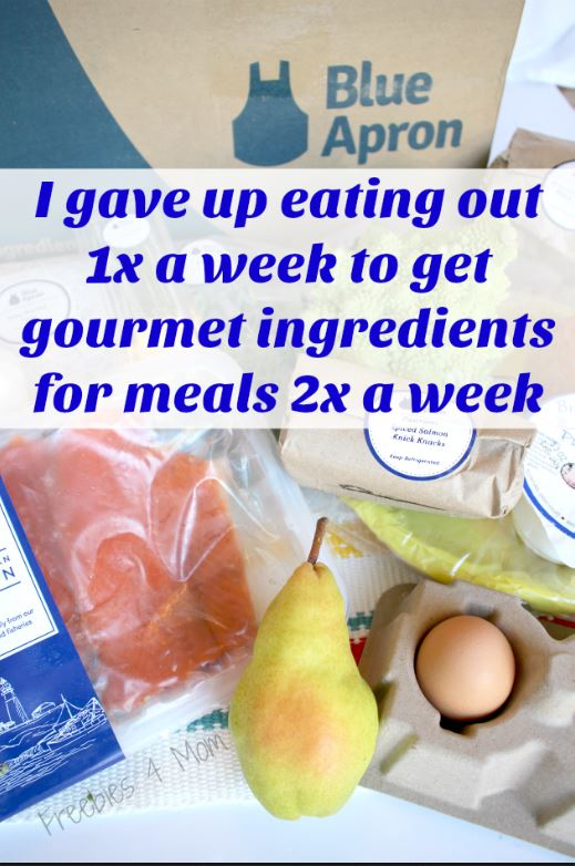 3 Free Meals from Blue Apron Meal Delivery: I gave up eating out 1x a week to get gourmet ingredients for meals 2x a week