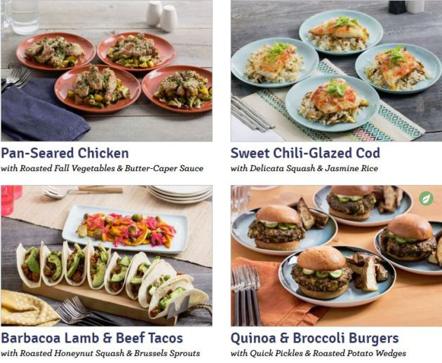 Blue Apron Meal Deliver Service Weekly Menu Choices
