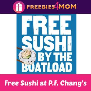 Free Sushi at P.F. Chang's