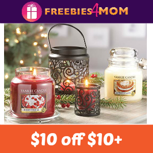 $10 off $10+ Purchase at Yankee Candle