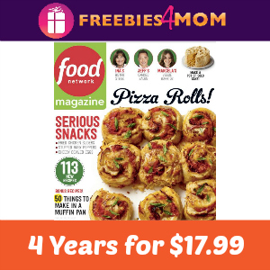 Magazine Deal: 4 Years of Food Network $17.99