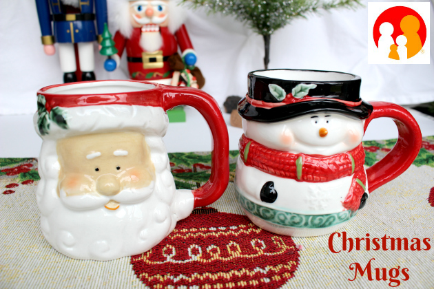Christmas Mugs from Family Dollar