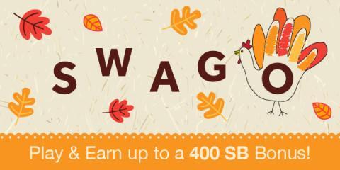 Earn a Bonus from SWAGO Thanksgiving