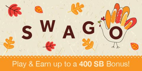 Earn a Bonus from SWAGO Thanksgiving