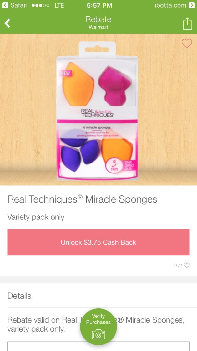 Save $3.75 on Real Techniques Miracle Sponges