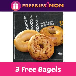 3 Free Bagels at Bruegger's Bagels