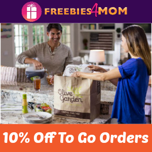 Save 10% Off Olive Garden To Go
