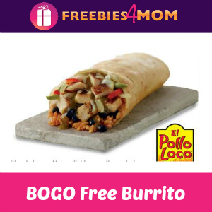 BOGO Free Burrito at El Pollo Loco April 5