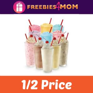 1/2 Price Shakes & Ice Cream Slushes at Sonic
