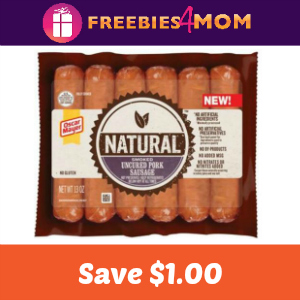 $1.00 off one Oscar Mayer Natural Sausage Link