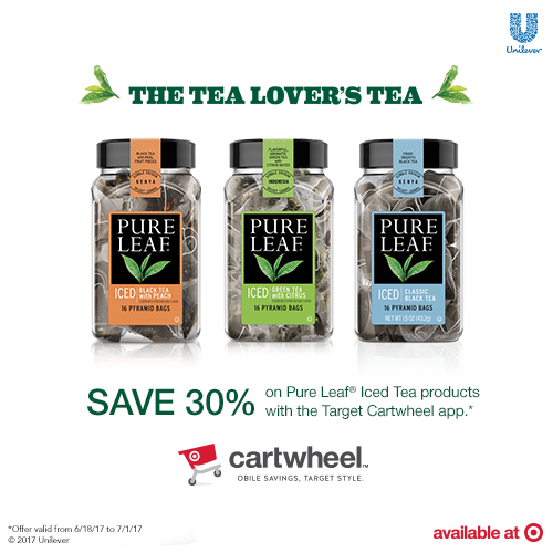 Save 30% on Pure Leaf Home Brewed Tea at Target