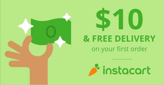 $10 off your first Instantcart Grocery Order