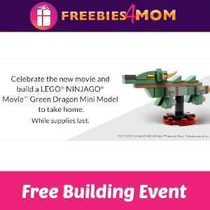 Free Lego Ninjago Build Event