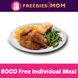 BOGO Free Individual Meal at Boston Market
